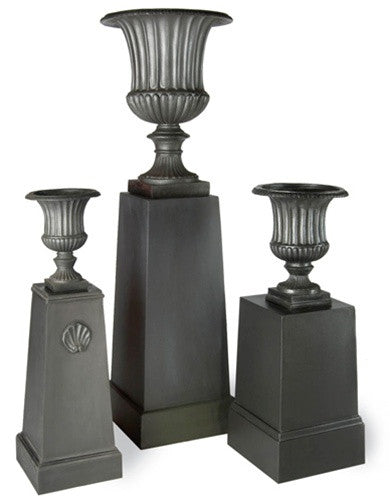 Fluted Urn Planters In Faux Lead Burke Decor