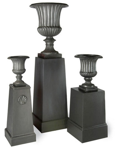 Fluted Urn Planters in Faux Lead design by Capital Garden Products