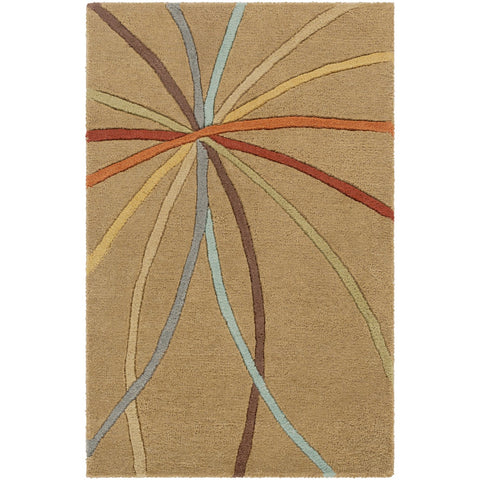 Forum FM-7140 Hand Tufted Rug in Tan & Dark Brown by Surya
