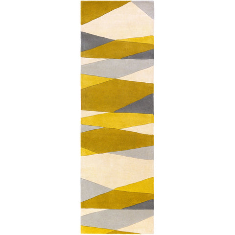 Forum FM-7203 Hand Tufted Rug in Cream & Lime by Surya