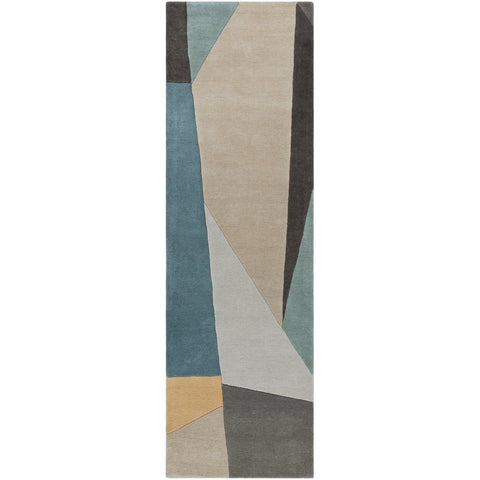 Forum FM-7223 Hand Tufted Rug in Teal & Sage by Surya