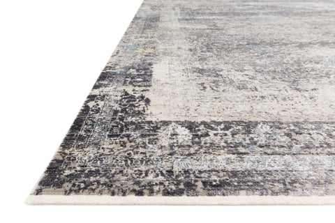 Franca Rug in Charcoal / Sky by Loloi