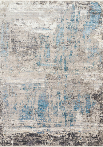 Franca Rug in Grey / Ocean by Loloi