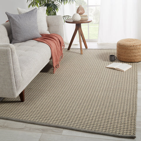 Houndz Indoor/ Outdoor Trellis Light Gray & Cream Rug by Jaipur Living