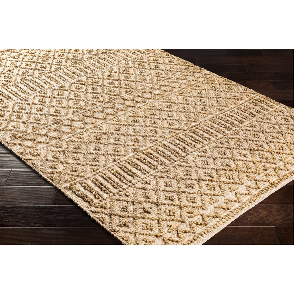 Farmhouse Naturals FNS-2300 Hand Woven Rug in Tan & Khaki by Surya