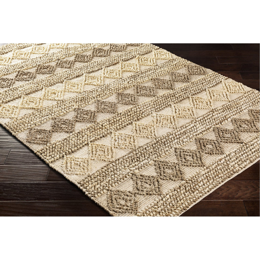 Farmhouse Naturals FNS-2302 Hand Woven Rug in Camel & Khaki by Surya