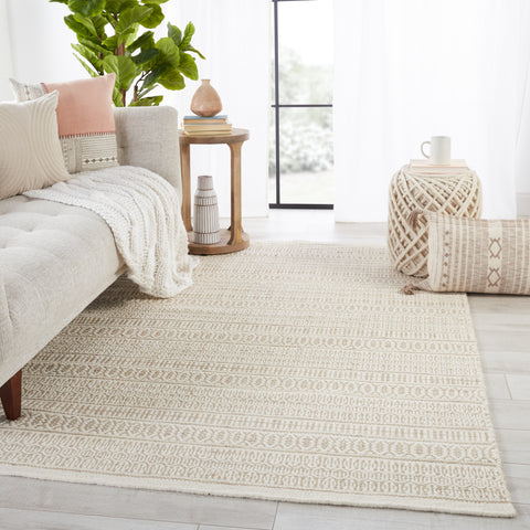 Galway Natural Trellis Ivory & Cream Rug by Jaipur Living