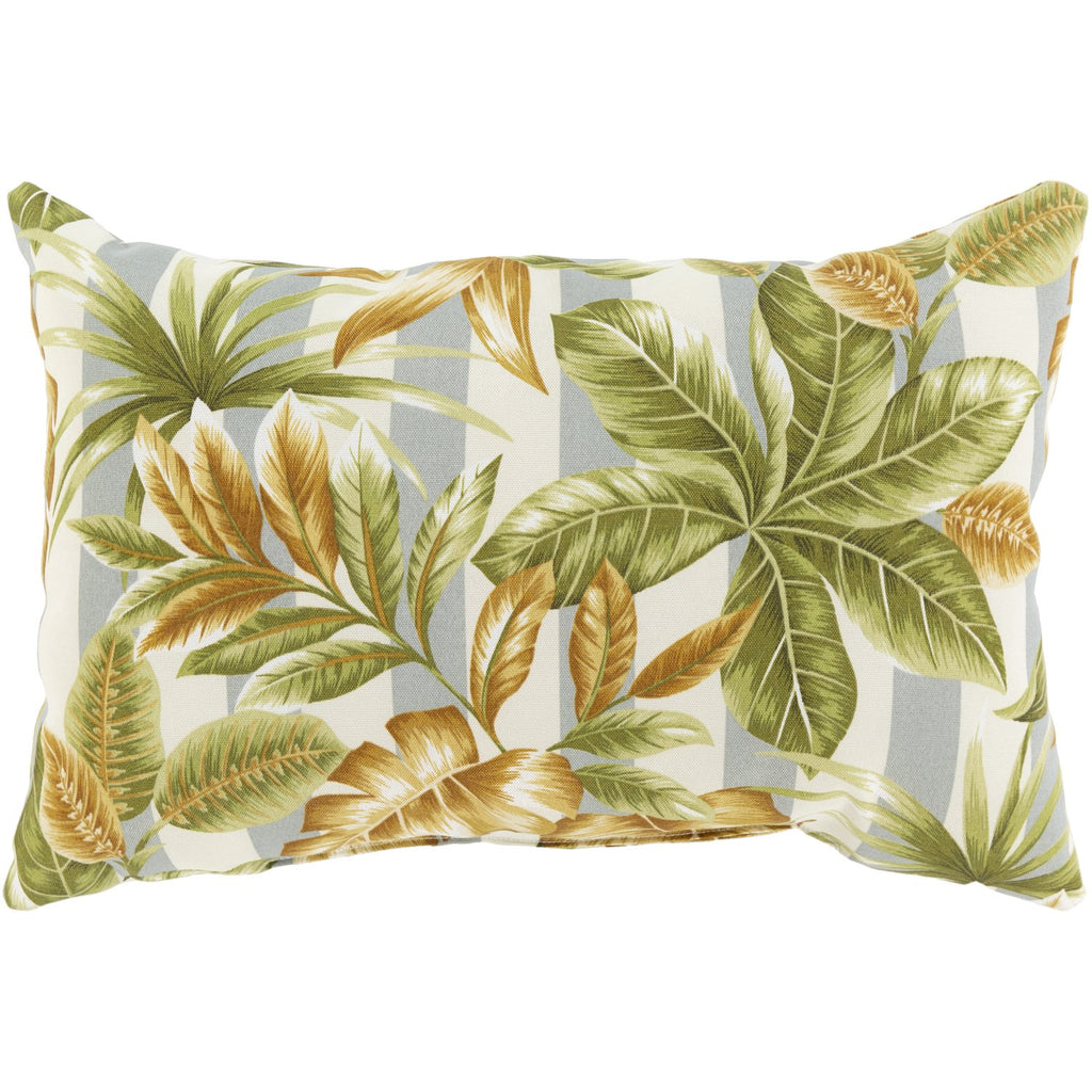 Fountain FOU-002 Woven Pillow in Olive & Wheat by Surya