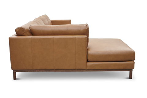 Freehand Arm Left Sectional in Ginger