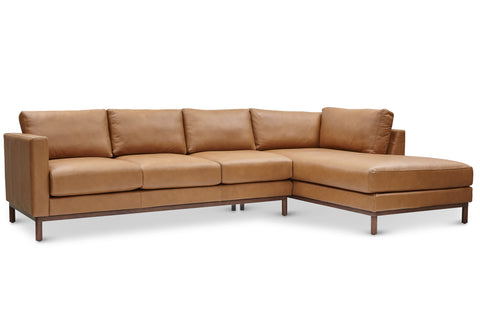 Freehand Arm Right Sectional in Ginger