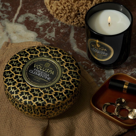 Freesia Clementine 3 Wick Tin Candle