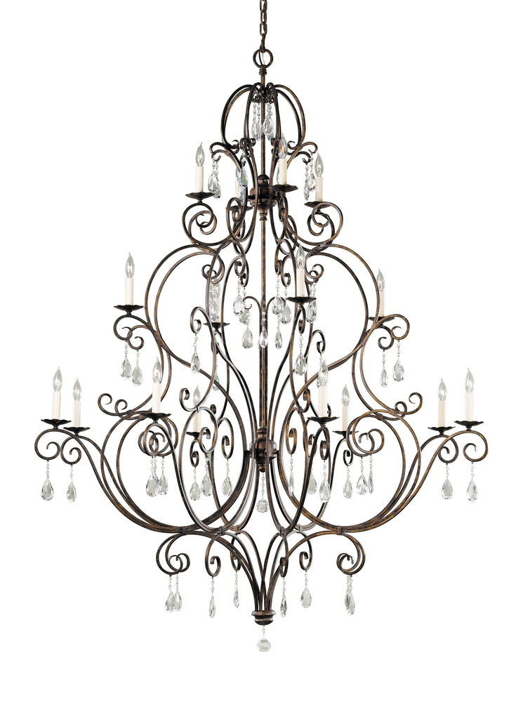 Chateau Collection 16 - Light Multi-Tier Chandelier by Feiss