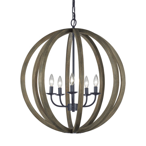 Allier Collection 5 - Light Large Pendant by Feiss