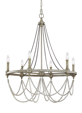 Beverly Collection 6 - Light Chandelier by Feiss