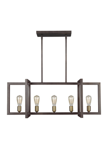 Finnegan Collection 5 - Light Island Chandelier by Feiss