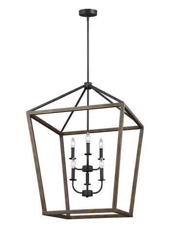 Gannet Collection 6 - Light Chandelier by Feiss