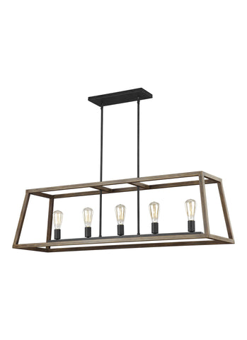 Gannet Collection 5 - Light Island Chandelier by Feiss