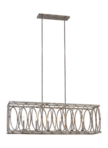 Patrice Collection 6 - Light Linear Chandelier by Feiss