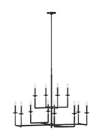 Ansley Collection 12 - Light Chandelier by Feiss