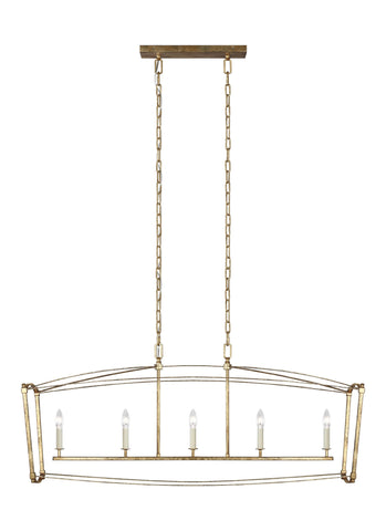 Thayer Collection 5 - Light Linear Chandelier by Feiss