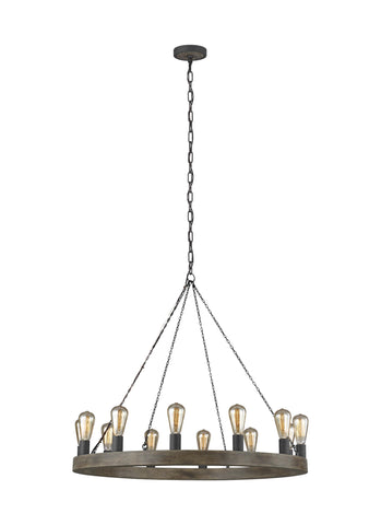 Avenir Collection 12-Light Chandelier by Feiss