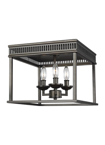Woodruff Collection 3 - Light Flush Mount by Feiss