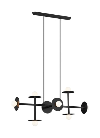 Nodes Abstract Linear Chandelier by Kelly by Kelly Wearstler