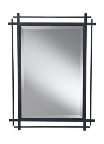 Ethan Collection Antique Forged Iron Mirror by Feiss