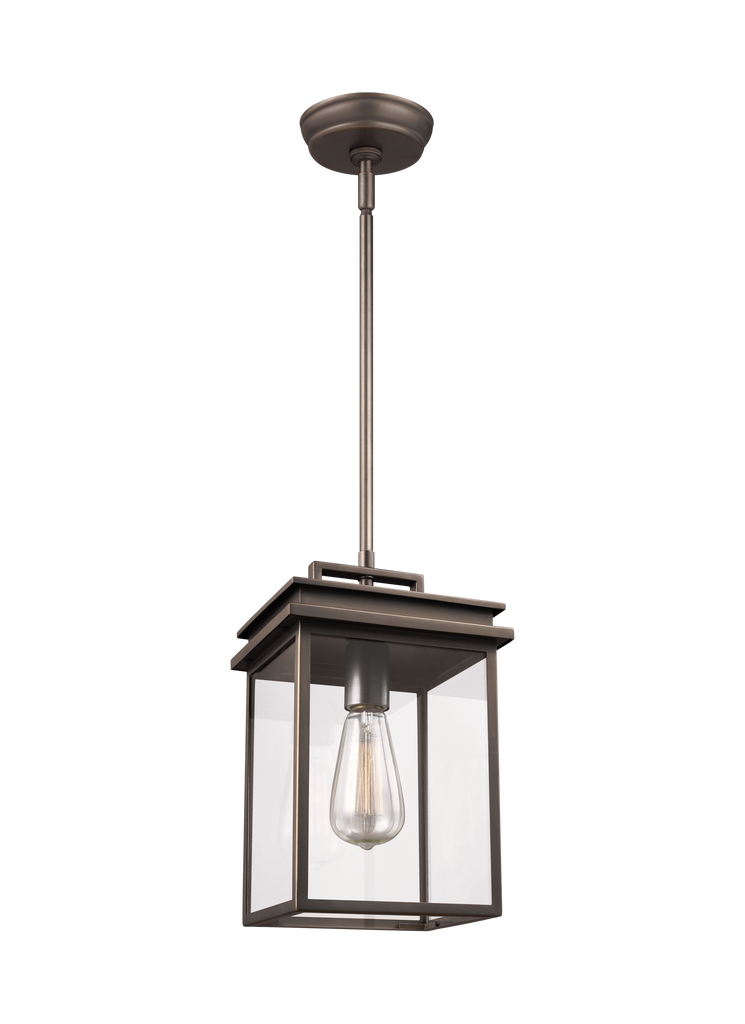 Glenview Collection 1 - Light Outdoor Pendant Lantern by Feiss