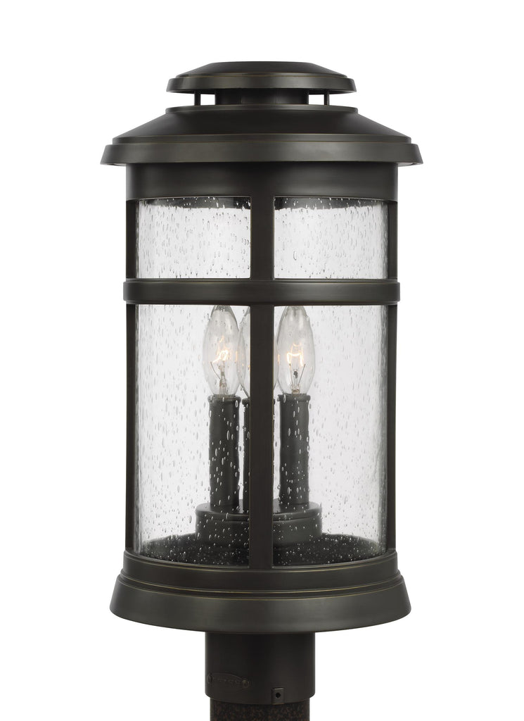 Newport Collection 3 - Light Post Lantern by Feiss