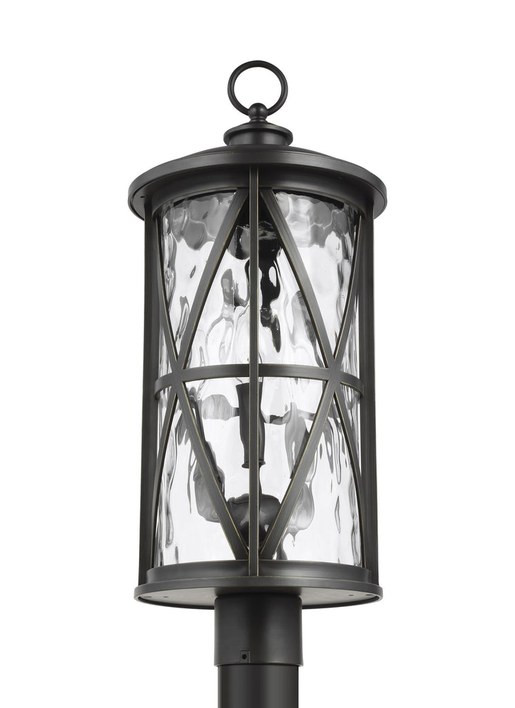 Millbrooke Collection 3 - Light Outdoor Post Lantern by Feiss