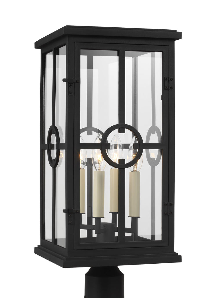 Belleville Collection 4 - Light Outdoor Post Lantern by Feiss