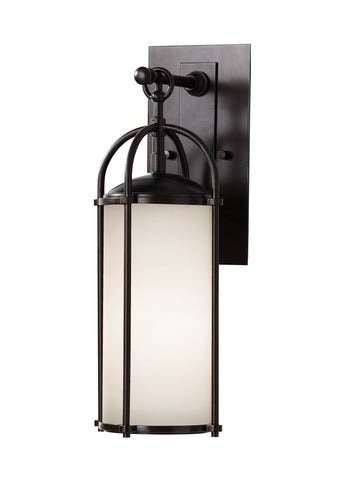 Dakota Small White Opal Etched Glass Lantern by Feiss