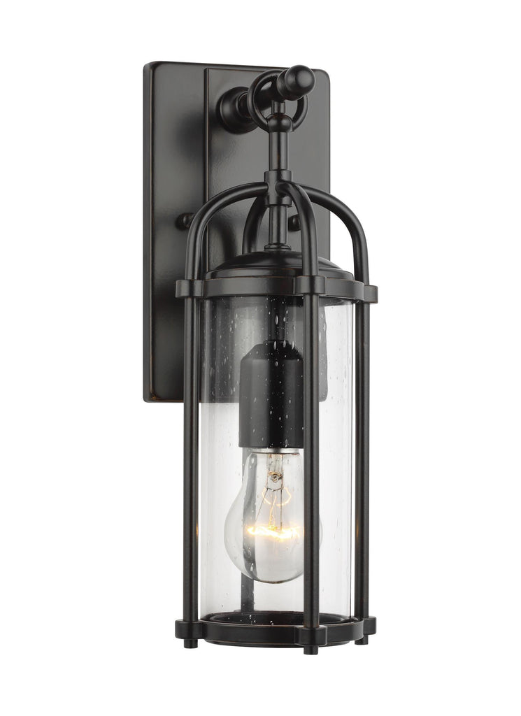 Dakota Small Clear Seeded Glass Lantern by Feiss