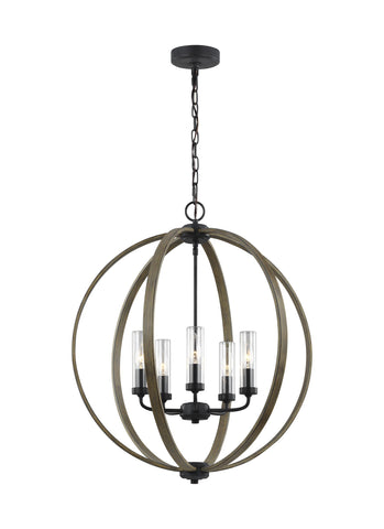 Allier Collection 5 - Light Outdoor Chandelier by Feiss