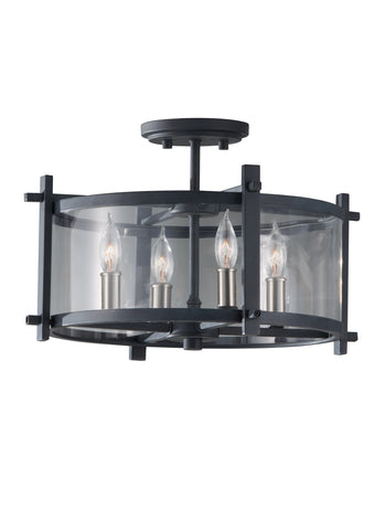 Ethan Collection 4 - Light Indoor Semi-Flush Mount by Feiss