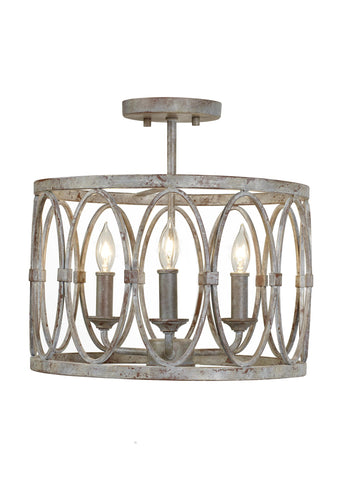 Patrice Collection 3 - Light Semi Flush Mount by Feiss