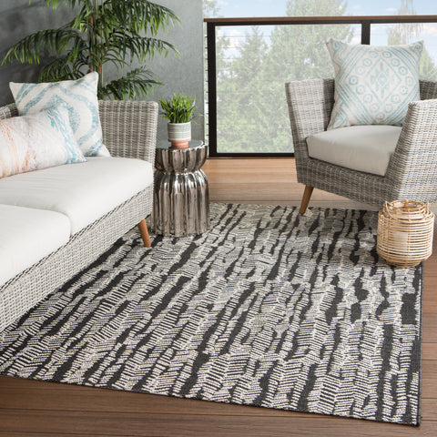 Citali Indoor/ Outdoor Tribal Black/ Cream Rug by Jaipur Living