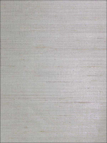 Faint Metallic Weave Wallpaper in Silver White from the Sheer Intuition Collection by Burke Decor