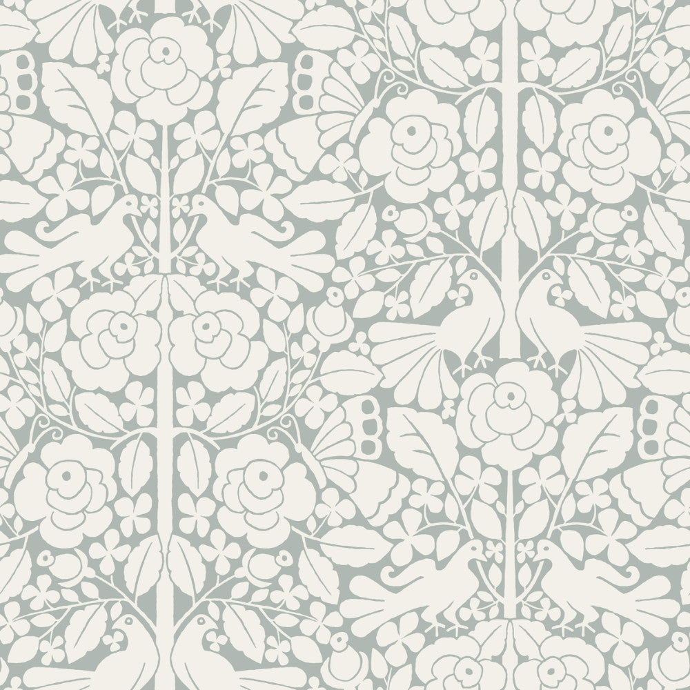 Sample Fairy Tales Wallpaper In Neutral Blue From The
