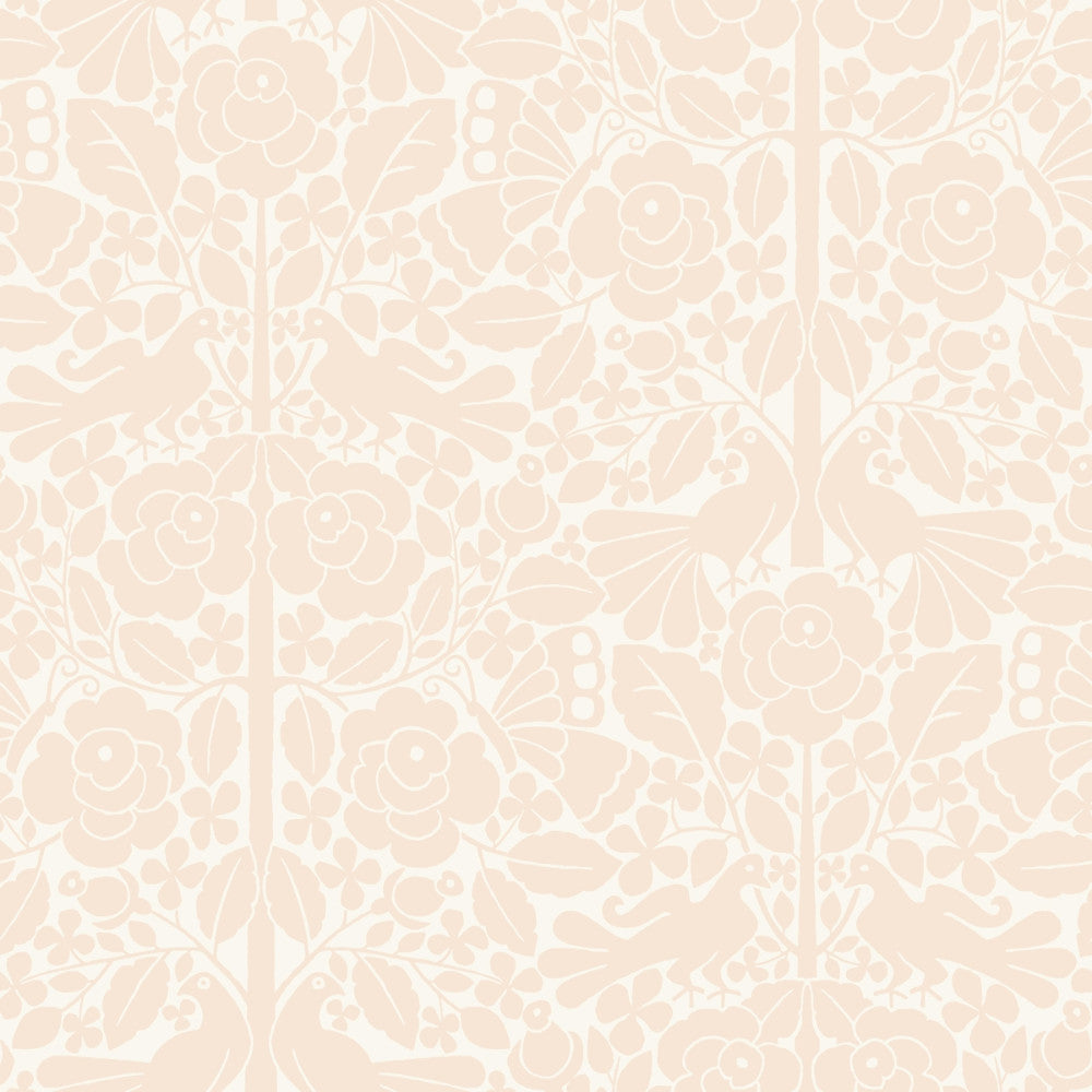 Fairy Tales Wallpaper in Soft Pink from the Magnolia Home Vol. 3 Collection by Joanna Gaines