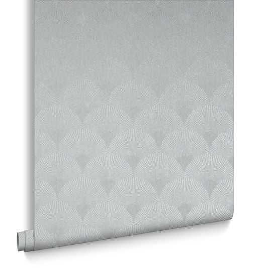 Fan Wallpaper in Silver from the Exclusives Collection by Graham & Brown