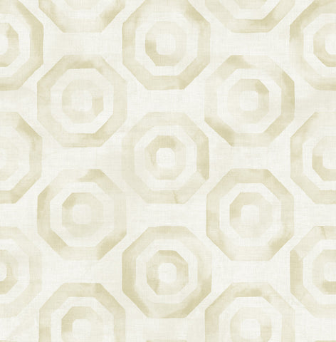 Faravel Geo Wallpaper in Yellow from the Lugano Collection by Seabrook Wallcoverings