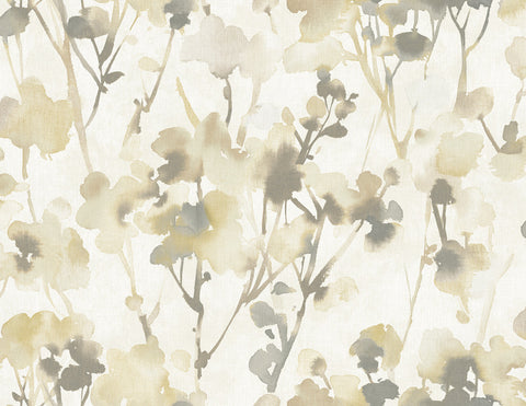 Faravel Wallpaper in Ivory and Neutrals from the Lugano Collection by Seabrook Wallcoverings