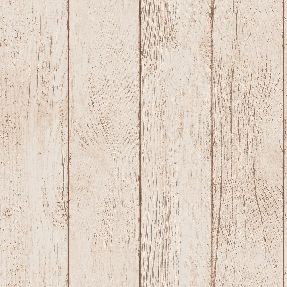 Sample Farmhouse Planks Self-Adhesive Wallpaper (Single Roll) in Brown by Tempaper