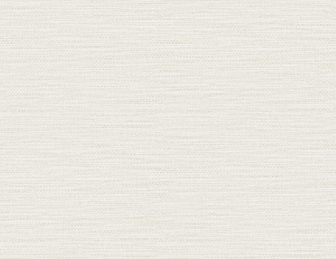 Faux Linen Weave Wallpaper in Winter Fog from the Luxe Retreat Collection by Seabrook Wallcoverings