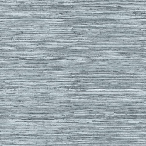 Faux Weave Grasscloth Peel & Stick Wallpaper in Blue and Grey by RoomMates for York Wallcoverings