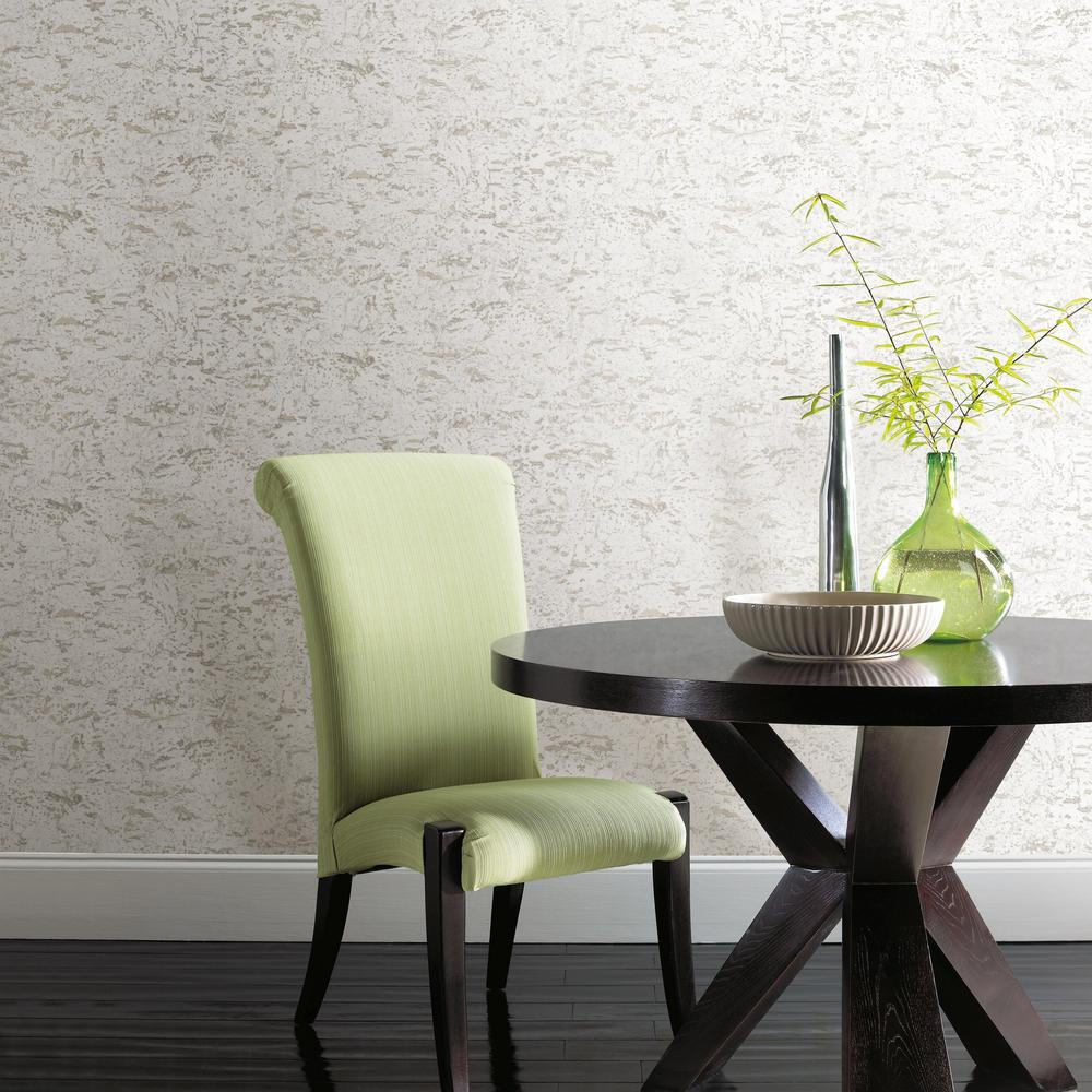 Faux Cork Peel & Stick Wallpaper in White by RoomMates for York Wallcoverings