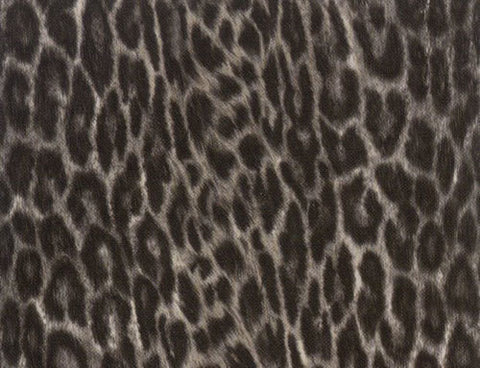 Faux Leopard Contact Wallpaper in Black and White by Burke Decor