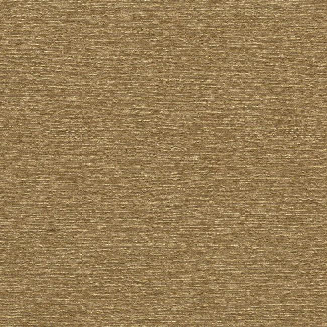Faux Silk Wallpaper in Gold and Brown design by York Wallcoverings
